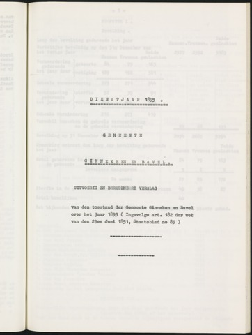 Ginneken en Bavel - Verslagen van de toestand van de gemeente 1895
