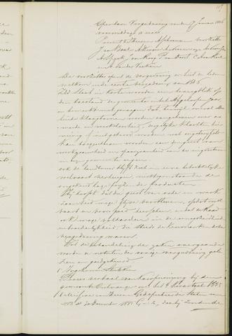 Princenhage - Notulen van de gemeenteraad 1886-01-01