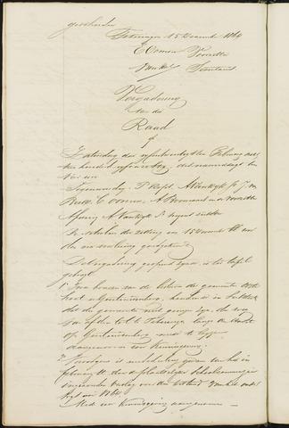 Teteringen - Notulen en bijlagen van de gemeenteraad 1865
