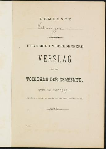 Teteringen - Verslagen van de toestand van de gemeente 1907