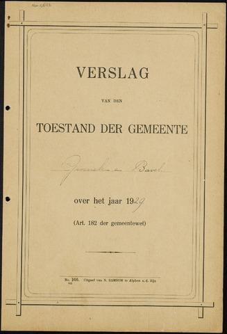 Ginneken en Bavel - Verslagen van de toestand van de gemeente 1929-01-01