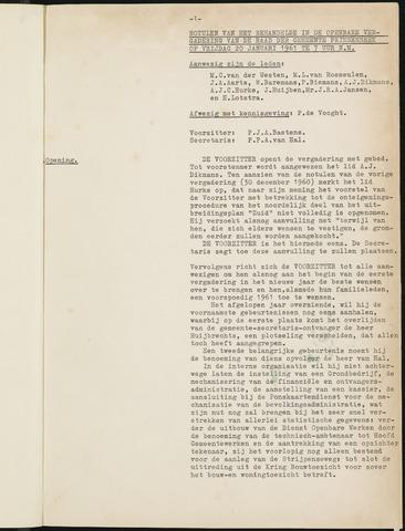 Prinsenbeek - Notulen van de gemeenteraad 1961