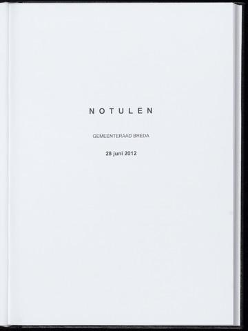 Breda - Notulen van de gemeenteraad 2012-06-28