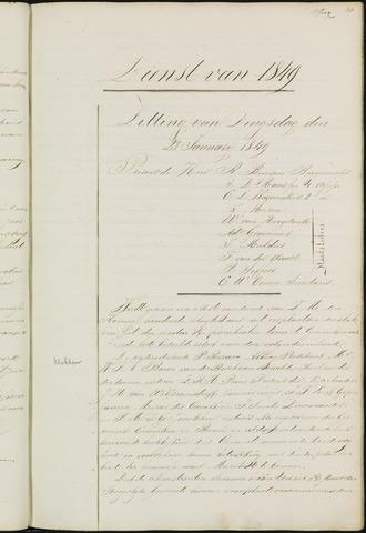 Ginneken en Bavel - Notulen van de gemeenteraad 1849-01-01