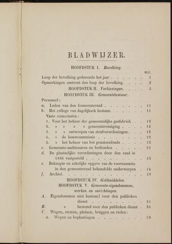 Breda - Verslagen van de toestand van de gemeente 1886