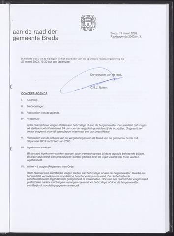 Breda - Bijlagen bij de notulen van de gemeenteraad 2003-03-19