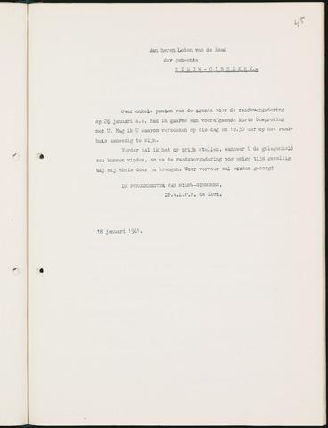 Nieuw-Ginneken - Notulen en bijlagen van de gemeenteraad 1961