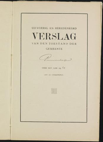 Princenhage - Verslagen van de toestand van de gemeente 1920-01-01