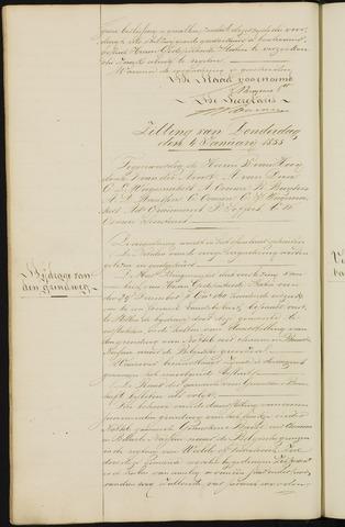 Ginneken en Bavel - Notulen van de gemeenteraad 1855-01-01