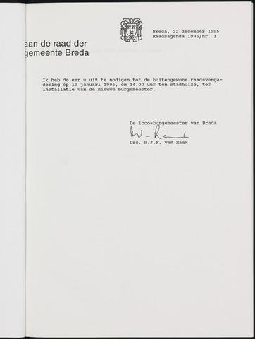 Breda - Bijlagen bij de notulen van de gemeenteraad 1996-01-01
