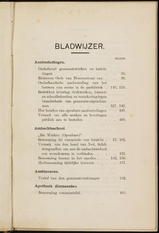 Breda - Indexen op de notulen van de gemeenteraad 1913-01-01