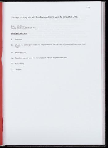Breda - Notulen van de gemeenteraad 2013-08-22