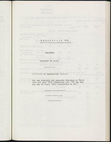 Ginneken en Bavel - Verslagen van de toestand van de gemeente 1879