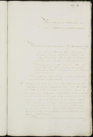 Breda - Notulen van de gemeenteraad 1827-01-01