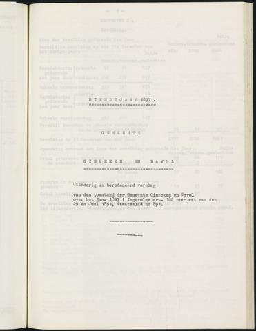 Ginneken en Bavel - Verslagen van de toestand van de gemeente 1897