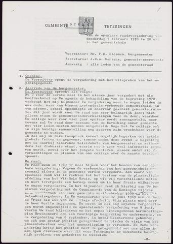 Teteringen - Notulen en bijlagen van de gemeenteraad 1970