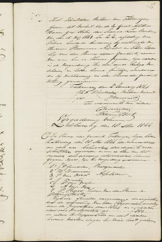 Teteringen - Notulen en bijlagen van de gemeenteraad 1844