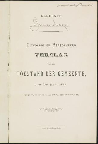Princenhage - Verslagen van de toestand van de gemeente 1899-01-01