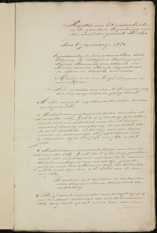 Breda - Notulen van de gemeenteraad 1870-01-01