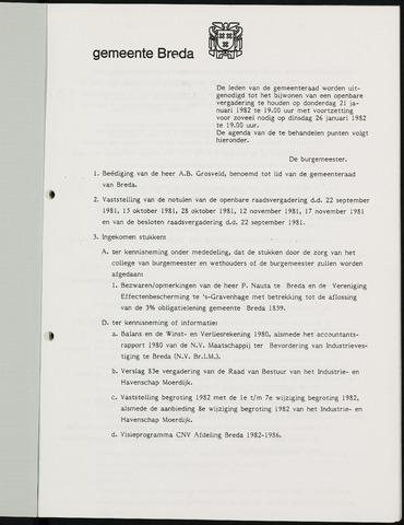 Breda - Bijlagen bij de notulen van de gemeenteraad 1982