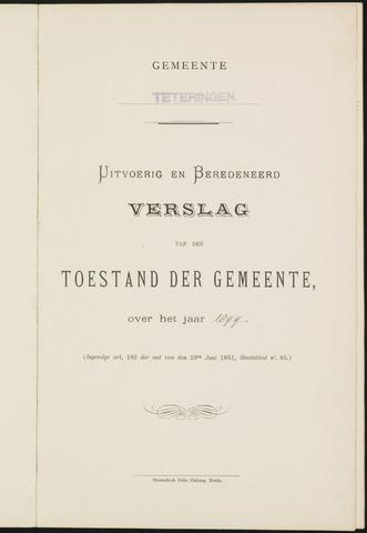 Teteringen - Verslagen van de toestand van de gemeente 1899