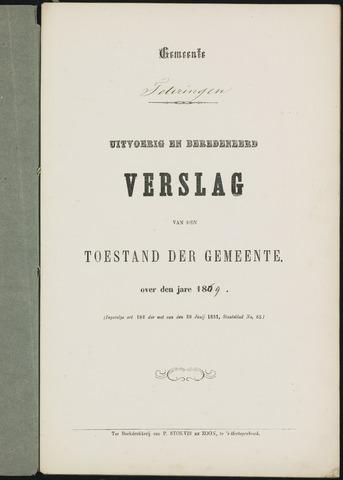 Teteringen - Verslagen van de toestand van de gemeente 1869