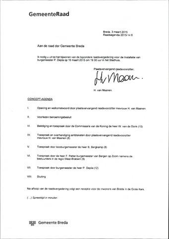 Breda - Bijlagen bij de notulen van de gemeenteraad 2015-03-16