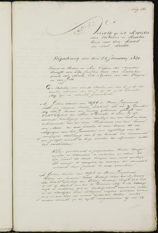 Breda - Notulen van de gemeenteraad 1830-01-01