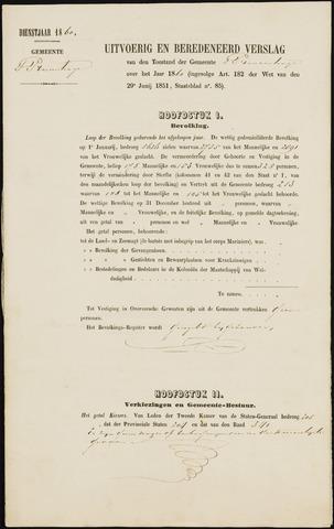Princenhage - Verslagen van de toestand van de gemeente 1860