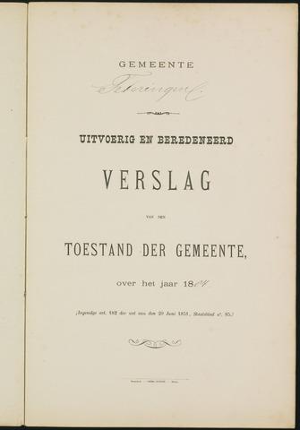 Teteringen - Verslagen van de toestand van de gemeente 1884-01-01