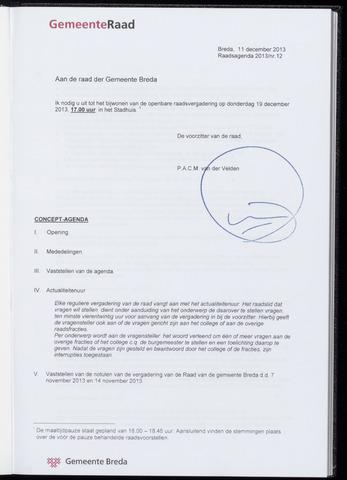 Breda - Bijlagen bij de notulen van de gemeenteraad 2013-12-19