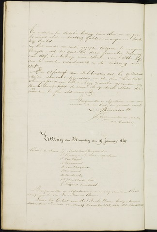 Ginneken en Bavel - Notulen van de gemeenteraad 1829-01-01