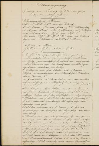 Ginneken en Bavel - Notulen van de gemeenteraad 1908-01-01