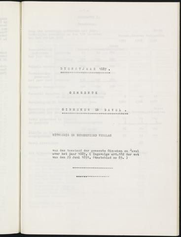 Ginneken en Bavel - Verslagen van de toestand van de gemeente 1887
