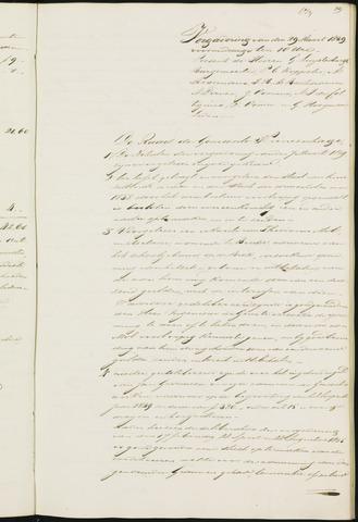 Princenhage - Notulen van de gemeenteraad 1839