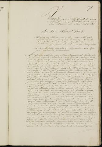 Breda - Notulen van de gemeenteraad 1842