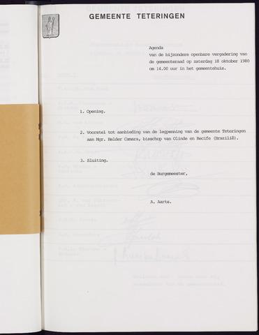 Teteringen - Notulen en bijlagen van de gemeenteraad 1980-10-18