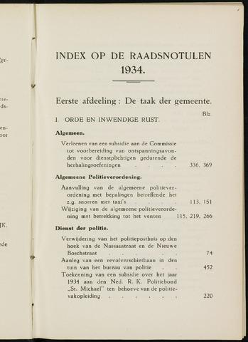 Breda - Indexen op de notulen van de gemeenteraad 1934-01-01