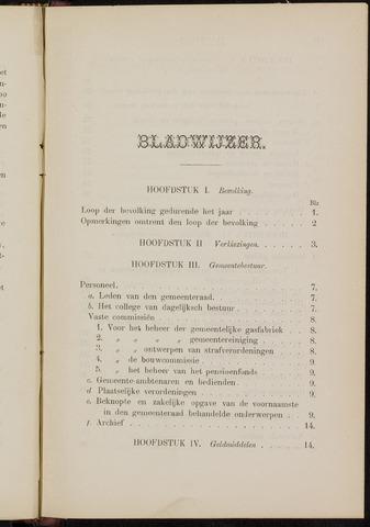 Breda - Verslagen van de toestand van de gemeente 1884