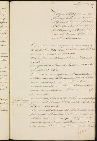 Princenhage - Notulen van de gemeenteraad 1823