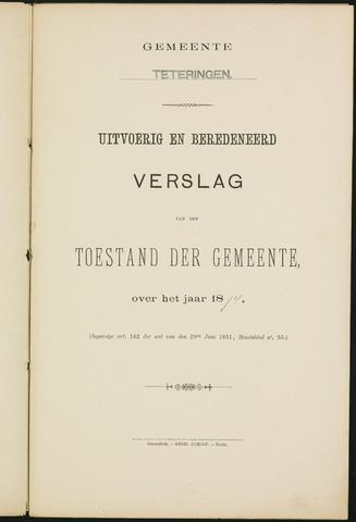 Teteringen - Verslagen van de toestand van de gemeente 1894