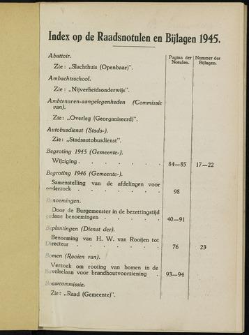 Breda - Indexen op de notulen van de gemeenteraad 1945-01-01