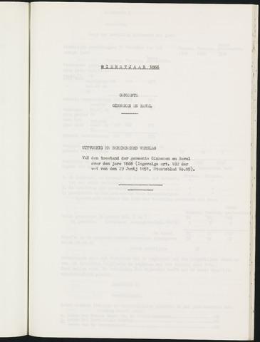 Ginneken en Bavel - Verslagen van de toestand van de gemeente 1866