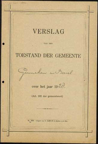 Ginneken en Bavel - Verslagen van de toestand van de gemeente 1928