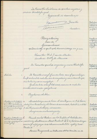 Teteringen - Notulen en bijlagen van de gemeenteraad 1956