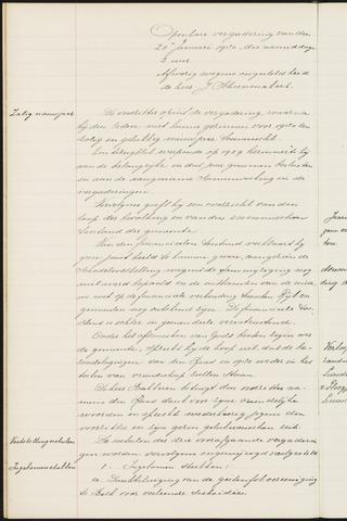 Princenhage - Notulen van de gemeenteraad 1930-01-01