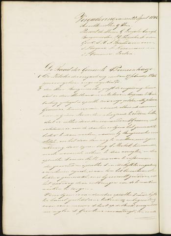 Princenhage - Notulen van de gemeenteraad 1835