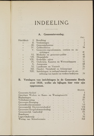 Breda - Verslagen van de toestand van de gemeente 1926
