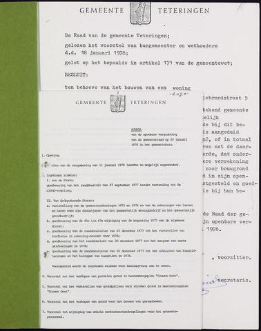 Teteringen - Notulen en bijlagen van de gemeenteraad 1978-01-24