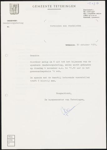 Teteringen - Notulen en bijlagen van de gemeenteraad 1975-11-04
